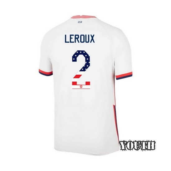 Home Sydney Leroux 2020/21 Youth Stadium Jersey Independence Day