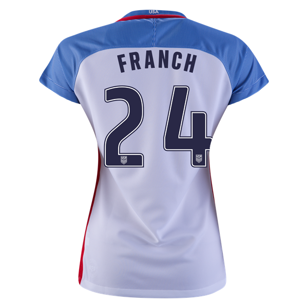 2016/2017 Adrianna Franch Stadium Home Jersey USA Soccer #24