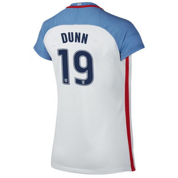 2016/2017 Crystal Dunn Stadium Home Jersey USA Soccer #19