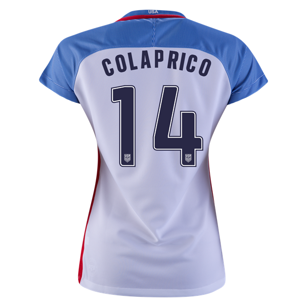 2016/2017 Danielle Colaprico Stadium Home Jersey USA Soccer #14