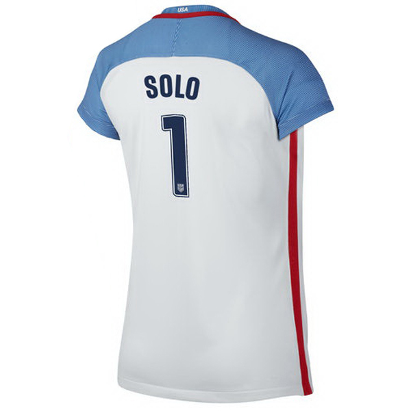 2016/2017 Hope Solo Stadium Home Jersey USA Soccer #1