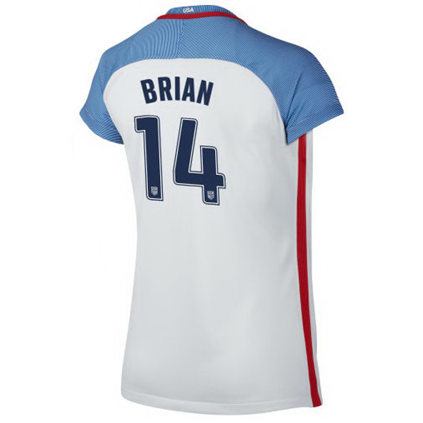 2016/2017 Morgan Brian Stadium Home Jersey USA Soccer #14