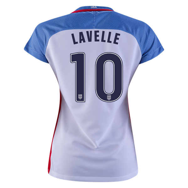 2016/2017 Rose Lavelle Stadium Home Jersey USA Soccer #10