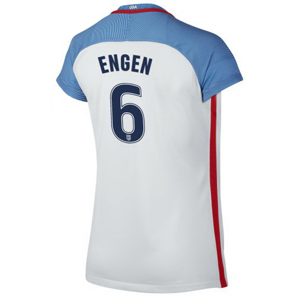 2016/2017 Whitney Engen Stadium Home Jersey USA Soccer #6