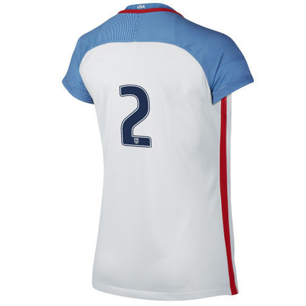 2016/2017 Number Two Stadium Home Jersey USA Soccer #2