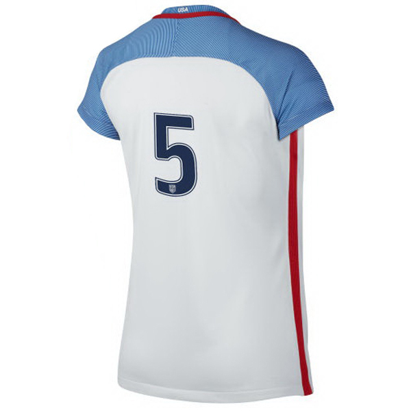 2016/2017 Number Five Stadium Home Jersey USA Soccer #5