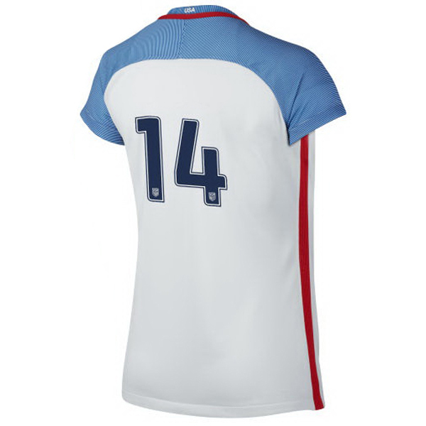 2016/2017 Number Fourteen Stadium Home Jersey USA Soccer #14