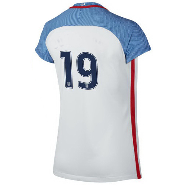 2016/2017 Number Nineteen Stadium Home Jersey USA Soccer #19