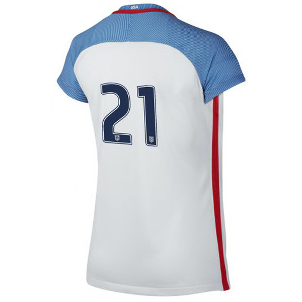 2016/2017 Number Twenty-one Stadium Home Jersey USA Soccer #21