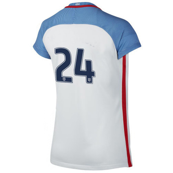 2016/2017 Number Twenty-four Stadium Home Jersey USA Soccer #24