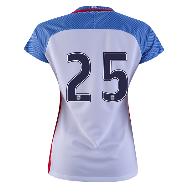 2016/2017 Number Twenty-five Stadium Home Jersey USA Soccer #25