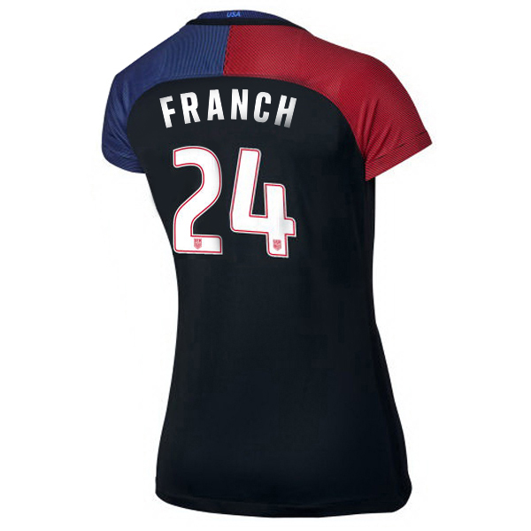 2016/2017 Adrianna Franch Stadium Away Jersey USA Soccer #24