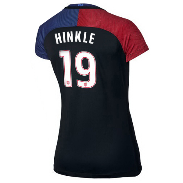 2016/2017 Jaelene Hinkle Stadium Away Jersey USA Soccer #19 - Click Image to Close