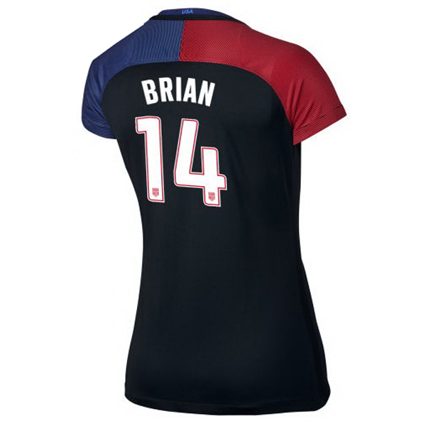 2016/2017 Morgan Brian Stadium Away Jersey USA Soccer #14