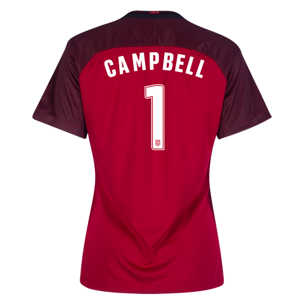 2017/2018 Jane Campbell Third Stadium Jersey #1 USA Soccer