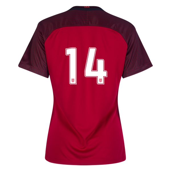 2017/2018 Number Fourteen Third Stadium Jersey #14 USA Soccer
